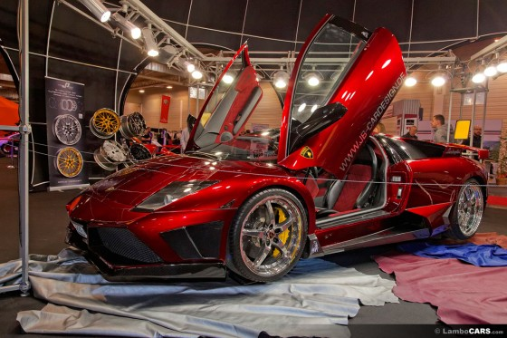 This has become a rather known car over the years, red metallic Lamborghini Murcielago