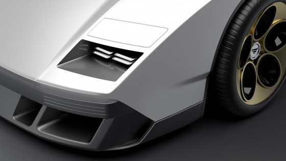 LED headlights ... or is this Countach recreation hiding some pop-up headlights too
