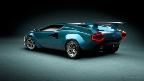 A classic design brought into the 21st century by Jimmy Nahlous with his Countach Retro Concept