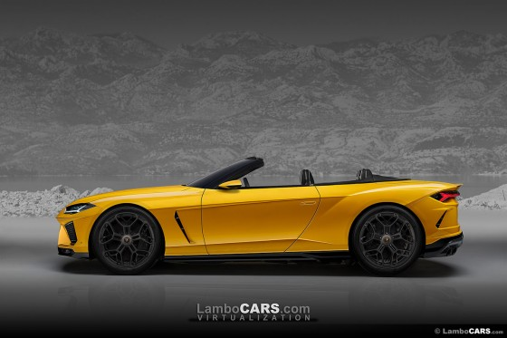 If Lamborghini does bring back the GT 2+2 by 2025 it might be possible to see a convertible later on