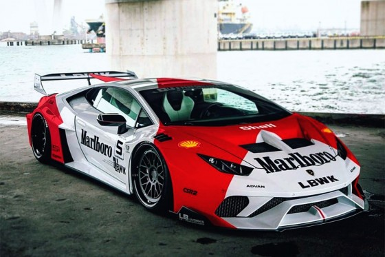 Looks like the added a Marlboro wrap to this LB-Silhouette WORKS Huracan GT